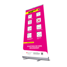 Bild von Roll Up Banner (85x200) inkl. BAG-Design